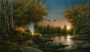Terry Redlin sera Solitudine Home Decor dipinto a mano HD Stampa olio su tela dipinto arte della parete della tela di Immagini 200316
