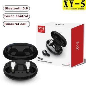 Новый XY-5 TWS 5.0 Bluetooth наушники 3D стерео сенсорный наушники Беспроводные наушники с микрофоном телефона гарнитура с розничной коробке