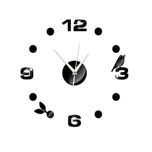 Simple Wall Sticker 3D Clock Style Wall Decal for Home Office J2Y