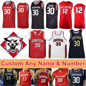 Individuelle Davidson Wildcats Basketball Jersey NCAA Curry Kellan Grady Jon Axel Gudmundsson Luka Brajkovic Carter Collins Luke Frampton