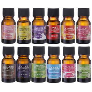 Aceites esenciales 10ml floral de frutas, aceites esenciales para aliviar el 12pcs cuidado de la piel Aceite de aromaterapia difusores de aire que refresca cuerpo de masaje