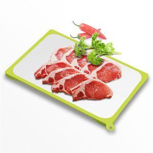 Экологически чистые кухонные инструменты продукты силиконовые быстрое оттепели Помещенный сыр мясо TRAY складе быстро замороженных пищевых продуктов оттаивание пластинчатого инструмент доска стола