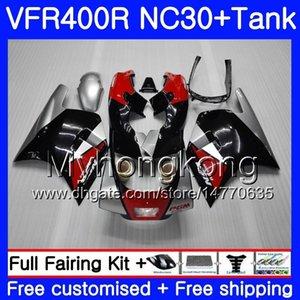 Vermelho 90 Honda RVF400R VFR400 NC30 V4 VFR400R 89 400 91 92 VFR 269HM.2 Fábrica Kit 1992 1989 93 R Para VFR 1990 FVR 400R 1991 Blk 1993 Fai Flfg