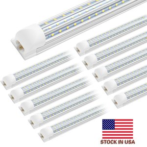 20PCS LED Tubes Light V Shaped 4ft 8ft LED Tube T8 Integration 120w 100-277V Double Sides Bulbs tube Light Cooler Door Light