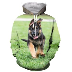 German Shepherd Dog Cute Dogs hoodie men women 3D print hoodies sweatshirts casual Harajuku style streetwear tops