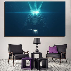Godzilla King Of The Monsters Movie Anime Canvas Poster Prints Pittura di arte della parete Immagine decorativa Camera da letto moderna del capretto della decorazione della casa