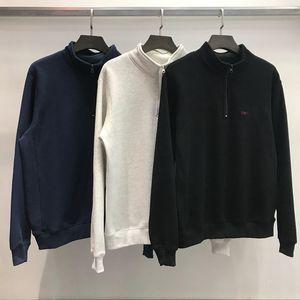 Mens Designer Sweater CARH Brief Printing 19FW Stehkragen Langarm Marke Fashion Solid Sweatshirt für Damen Herren asiatische Größe M-2XL