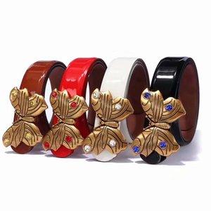 2019 Nouveau luxe femmes ceinture design ceinture mode papillon diamant mosaïque boucle de ceinture de chasteté femme Livraison gratuite