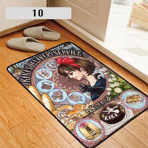 Serviço de entrega Tapete Capacho Tapete Tapete Home Hotel Sala Pavimento Mats Anti Slip Cosplay do Anime Kiki