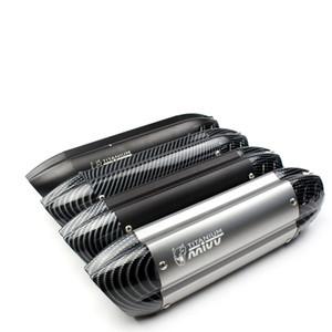 51 millimetri universale moto MIVV Exhaust silenziatore Tubo per KTM DUCATI GY6 CBR CBR125 CBR250 CB400 CB600 YZF FZ400 Z750