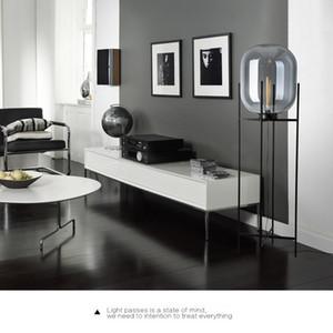 Postmodern minimalist atmospheric glass floor lamp Light luxury creative exhibition hall Living room study personality lamp melon table lamp