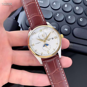 Man watch automatic mechanical movement mineral reinforced glass 316L fine steel case fine steel watchband simple versatile business leisure