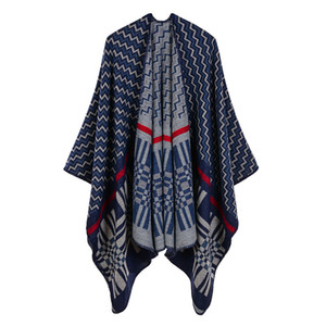New Classic Lady Scarf Fashion Women Autumn and Winter Zig Zag Pattern Wraps High Quality Imitation Cashmere Pashmina