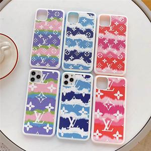 Designer de moda para o iphone 11 11promax 11Pro 7 8plus XSMAX Dazzling praia vento bordas brancas de volta caso capa dura para o iPhone 7plus Telefone