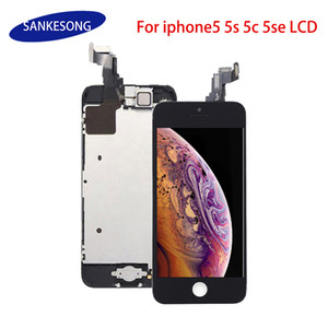 No Dead Pixel Quality lcd Screen For iPhone 5G 5C 5S SE Full Complete with Digitizer Bezel Frame+Home Button+Front Camera Full Assembly