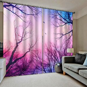 pink forest 3d curtains new window balcony thickened windshield blackout curtains warm girls curtains