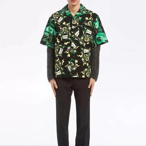 Trend 19SS Milano Frankenstein Green Shirt Summer Beach Uomo Donna T Shirt Fashion Casual Street Holiday Kiwi Outwear Jacket HFLSCS039