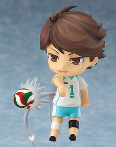 New hot sale Q ver. 563# Haikyuu!! no.1 Oikawa Tooru movable 10CM PVC gift for children free shipping