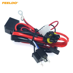 FEELDO Car Motcle Kit 12V 35W H4 HID Hi / Lo Zenon Wire Runk Relay HID Wirding Knightly Kit # 4566