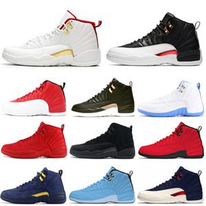 Scarpe da basket da uomo 12 12s FIBA Game Royal UNC Gym Playoff rossi College Navy Reverse Taxi Michigan Wings mens sneakers Sport Sneakers 7-13