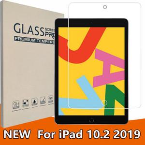 Verre Tablet Film pour iPad 10.2 pouces 2019 Screen Protector 9H Glas dans Trempé Reail BOX Package dhl navire gratuit