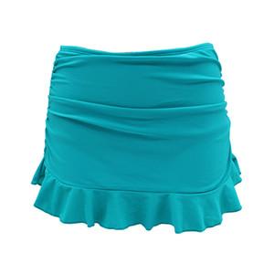 Shekini Badeanzug für Frauen Eingebauter Badeanzug mit gerafftem Rüschenrock und Bikini-Unterteilen Y190727