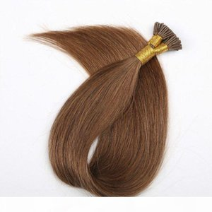 Ash Blond #18 Pre bonded Keratin I Tip Hair Extensions 1g Per Strand 100g 100strand Brazilian Human Hair Stick Tip Hair Extensions