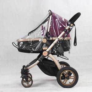 Newborn Baby Stroller con coperchio di protezione trasparente della copertura della pioggia per infantile Insect Mosquitoe quattro ruote Passeggino