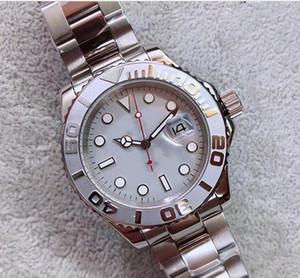 классическая мода Бесплатная доставка Автоматическая машина движения Мужчины Часы Yatch сапфировое Master II белый циферблат 316 Stainless диапазона Мужской часы