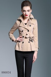 Women's Trench Coats Shart classic Windbreaker Waterproof British New high-end English style autumn Winter Gabadian Solid color Casual C119B