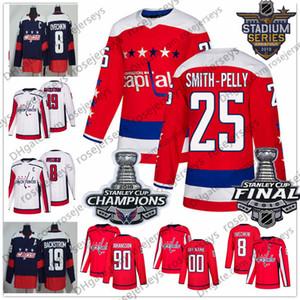 Washington Capitals 25 Devante Smith-Pelly 62 Carl Hagelin 44 Brooks Orpik 74 John Carlson 2018 Stanley Kupası Şampiyonları Kırmızı Beyaz