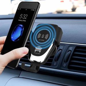 10W Q12 voiture chargeur sans fil de charge rapide Smart Phone Support de montage pour iPhone 8 8 Plus XS Samsung S8 S9 S10 Avec La fonction de recherche de voiture