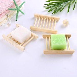 Natürliche Bambusholzseifenschalen aus Holz Seifen-Behälter-Halter-Speicher-Rack-Platte-Kasten-Behälter für Bad Seifenschalen CCA11488-A 120pcs
