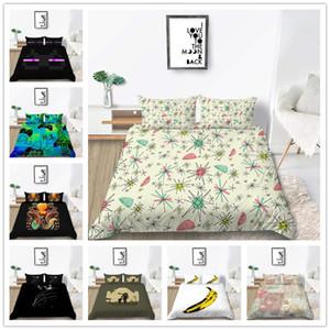مورديرن الأزياء مجموعة مفروشات التوأم كامل الملكة حجم مدفعي نمط غطاء سرير مجموعة سوبر لينة مع وسادة من غطاء لحاف