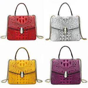 Women Designer Luxury Crocodile Shoulder Bag Brand Fashion Genuine Leather Single Bag Cluch Bags#824