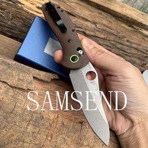 2019 nueva 551 cuchillo plegable CPM-20CV mango de fibra de lino plegables que acampan plena CNC mecanizado de precisión
