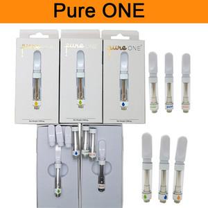 Pure One Ceramic Vape Cartridge Packaging Pureone New Vape Pen 510 Thread Cartridge 0.8ML 1ML E Cigarettes Vape Carts Vaporizer Oil Atomizer
