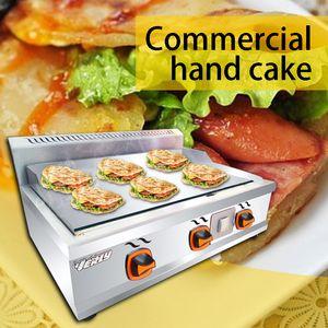 2800W / 220V plaque commerciale en fer à gaz multi-fonctions barbecue squid four en acier inoxydable de gaz de la machine de gâteau de main four