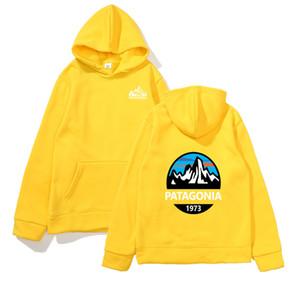 Camiseta para hombre de la moda 2020 sudaderas con capucha Patagonia Mountain Manga Larga Sudaderas