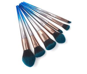 Profesyonel set Makyaj Fırça kiti 7pcs Pudra far Allık Fırçalar Eyeshadow fırça Kitleri Makyaj fırçalar