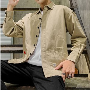 Men shirt long sleeve cotton men's shirts fashion casual men's shirt mens dress shirts street wear camisa masculinang harujuku