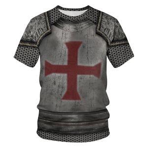 2019 T-shirts pour hommes de vêtements pour femmes Cross Armour 3D Digital Print Womens T-shirt Tops femmes Plus Size Harajuku Fashions T-shirts