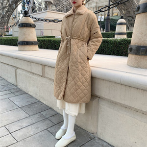 2 colors Winter Jacket Women 2019 solid color Warm Parkas Thick Outerwear Cotton-padded Winter Coat womens (R5530)