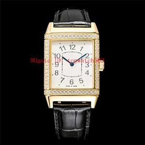 Nuevo Diccionario de diamante Q2788520 reloj de lujo reloj suizo automático 21600 VPH zafiro de 18 quilates de oro acero inoxidable 316L volver caja transparente