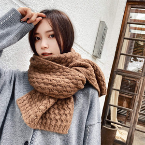 nuovo inverno gli uomini di lana fatti a mano di lana spessa sciarpa Islanda e solido sciarpa sciarpa di colore lavorata a maglia delle donne