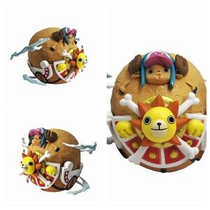 Nova venda quente One Piece O chapéu de palha piratas Tony Tony Chopper COS Thousand Sunny navio presente 5cm PVC para crianças