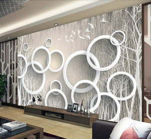 Customized large 3d mural luxury elegance Art abstract woods 3D wallpaper for living room TV backdrop 3d wall paper
