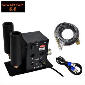 Gigertop Double tuyau Stade CO2 machine commutable DMX Control CO2 Colonne Jet 6Meter Tuyau de gaz pour l'effet de la Partie DJ