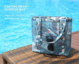 Tasarımcı-Beach Çanta Yoğun Mesh Çantalar Kadınlar Moda Plajı Seyahat Çantaları Omuz Çantası Moda Alışveriş Çantaları