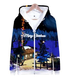 2018 New Hot Sale Christmas 3D Printed Fashion Zipper Hoodies Sweatshirts Women Men Casual Long Sleeve Hoodies Streetwear Clothing
